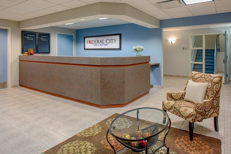 front desk at federal city inn and suites