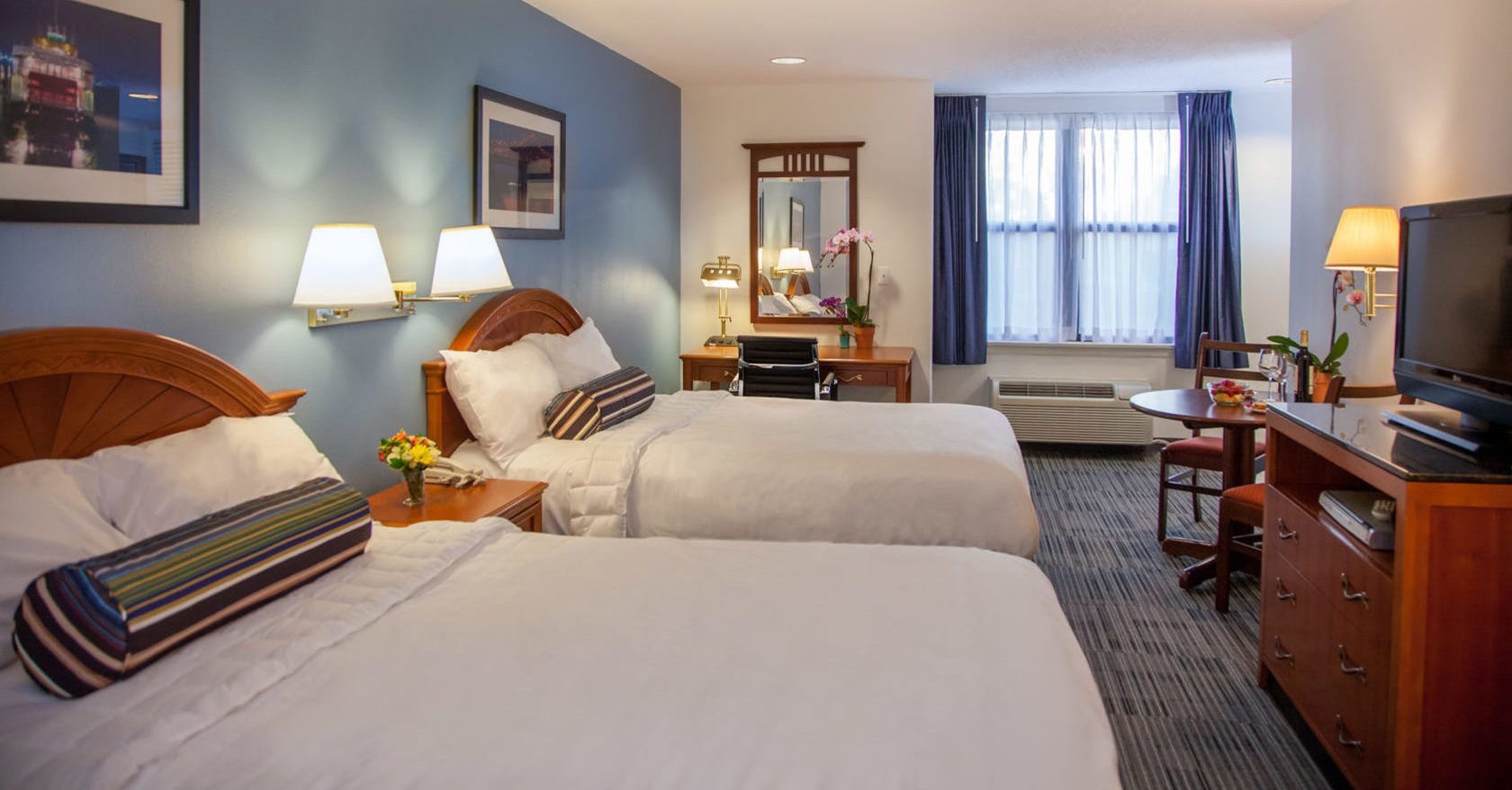 Federal City Accommodations with two queen beds in the executive room.
